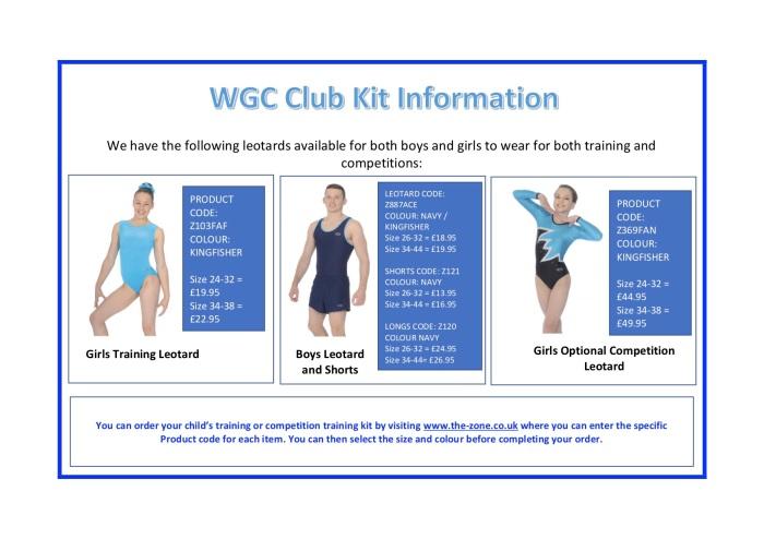 Kit Information April 2018